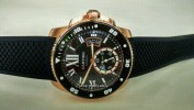 CARTIER DIVER RUBBER ROSE GOLD