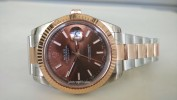 ROLEX DATEJUST BROWN DIAL ROSEGOLD