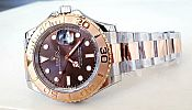 ROLEX YACHT MASTER BROWN DIAL ROSEGOLD 904L